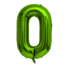 """Green Foil Party Balloon - Large 80cm (32"""") - Birthday Age - Number 0"""