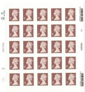 2021 GB 5p MACHIN Definitive full counter sheet of 25 M21L 16/03/21