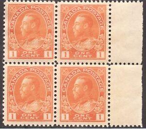 Sc#105 - Canada - 1c - 1922 - Admiral -  MNH -  F/VF - superfleas - cv$300