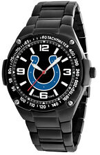 Indianapolis Colts Watch Mens Black SS Game Time Gladiator Wristwatch
