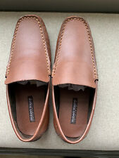 Robert Wayne Keeton Leather Casual Driving Loafer 9.5D Tan New In Box