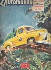 L'AUTOMOBILE 59 1951 JOWETT JUPITER ALGER LE CAP SCOOTER 4CV TRACTION 11 203 PEU