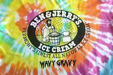 Ben & Jerry's Ice Cream Vintage Iconic Tie-Dyed Wavy Gravy T-shirt Size Xl