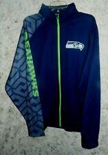 Seattle Seahawks NFL THERMAL BASE FLEECE FRONT ZIP JACKET-MEN Sz XL