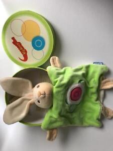 Kaloo Green Doudou Rabbit with Turtle Comforter