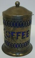Eales of Sheffield Silverplate Coffee Caddy Canister Jar w/ Box