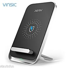 VINSIC VSCW106 Portable Qi Wireless Charger Phone Mount Charging Pad for Qi Enab