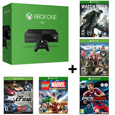 Microsoft Xbox One 1TB Gaming Console with Wireless Controller - 5 Games Bundle