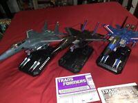 Masterpiece Transformers Jet Lot Starscream Skywarp Thunder Cracker