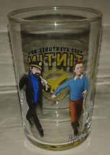 verre glass tintin capitaine milou haddock herge 9 x 6 cm vidrio vetro BD film