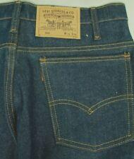 """Vintage Levi'S 505 Men""""S Raw Denim Blue Jeans Made In Usa Irregular 34/32 Nwot!"""