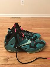 Lebron James 2013-14 Nike Flywire Teal Pink Men's Basketball Shoes Size 15