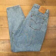 LEVIS Vtg 90s High Waist Jeans 550 Relax Fit Tapered Leg USA Made Womens 18 W S