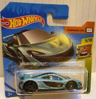 Hot Wheels 2020 HW Exotics #149 McLaren P1 Turquoise blue diecast car 9/10