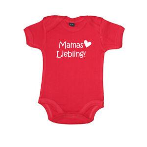 "Baby Body Kurzarm bedruckt Spruch ""Mamas Liebling"" Babybugz 100% Baumwolle"