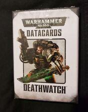 Warhammer 40K Codex Space Marine/Adeptus Astartes Army Deathwatch Data Cards