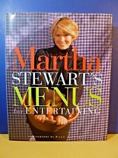 "Signed/Inscribed Book by MARTHA STEWART ""Menus For Entertaining"" 1st Edition"