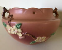 Vintage Roseville Pottery ~ Hanging Apple Blossom Planter Pot~Pink ~ Circa 1948