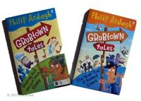 Grubtown Tales 2 Book Philip Ardah Year It Rained Cows + Stinking Ric Kids New