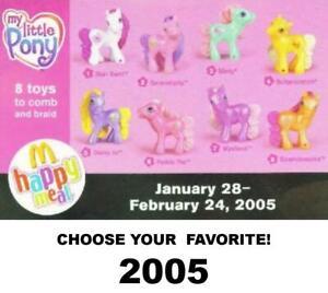 McDonald's 2005-2008 Hasbro My Little Pony Horses-Pick Your Favorite!
