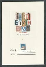 # 2272 HAPPY BIRTHDAY SPECIAL OCCASION MESSAGE '87 Fleetwood First Day Proofcard