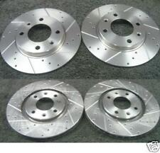 PEUGEOT 206 GTI 180 DRILLED BRAKE DISC FRONT REAR