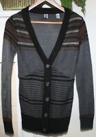 BKE Buckle Exclusive Patch Sweater Cardigan Women Sz M Small Med Holiday AWESOME