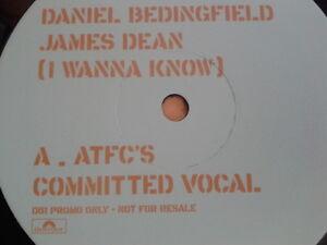"Daniel Beddingfield - James Dean (I Wanna  Know) 12"" Promo DB1 Polydor ATFC MINT"