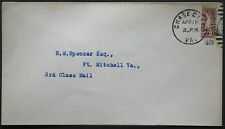 Cover - True 3 Cent Bisect to 1 1/2 Ct 3rd Class Mail rate - Chase Va S18