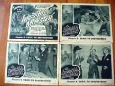 INVISIBLE MONSTER Serial lobby cards horror sci fi 1950