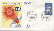 FRANCE FDC - 1462 1 ANNIV. COMMISSARIAT ENERGIE ATOMIQUE - 9 Octobre 1965 - LUXE