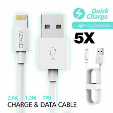 5 x CRAZY USB Data Lightning Charger cable for iPhone 8 7 6S Plus XS MAX XR X