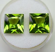 PERIDOT MATCHING PAIR 9.72ct!!  NATURAL UNTREATED +CERTIFICATE AVAILABLE