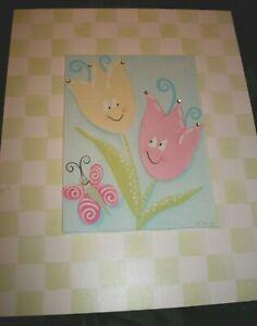 Doodlefish Art Regina Craven Nouvel Flowers Sequins 11 X 14