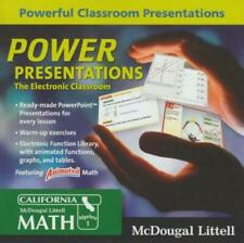 McDougal Littell: Math: Algebra 1: Power Presentations Pc Mac Cd lesons exercise