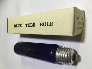 15 CM E27 BLUE TUBE BULB NOS UV LIGHT T10 240 VOLTS 25 WATT BOXED