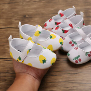 Baby Girls Mary Jane Flats Ballet Princess Dress Toddler First Walker Crib Shoes
