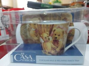 The Casa Collection Porcelain Mug & Melamine Snack Tray New Never Opened