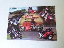 prospectus catalogue moto :  HONDA sport touring CBR 1100 & vfr 800 de 2000