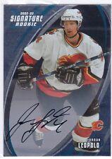 2002-03 Be A Player BAP Signature #195 Jordan Leopold Auto Autograph RC