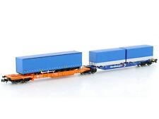 HOBBYTRAIN N 23752 Containertaschenwagen Sdggmrss 744 DB Kombiwaggon NEU&OVP