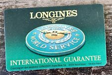 LONGINES Guarantee Certificate BLANK Master Conquest Moonphase Evidenza Heritage