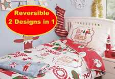 NEW ELF ON THE SHELF JUNIOR DUVET QUILT COVER SET BOYS GIRLS KIDS CHRISTMAS BED