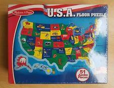 Melissa & Doug USA Map 51 Piece Floor Puzzle, item #440 NEW, Sealed, Gift ready!