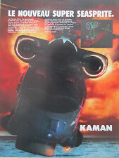 3/1987 PUB KAMAN HELICOPTER SH-2 SUPER SEASPRITE ASM ASW US NAVY FRENCH AD