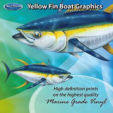 Yellow Fin Tuna Graphics - set of 300mm Boat Graphics