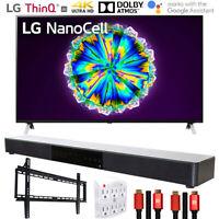 "LG 65NANO85UNA 65"" Nano 8 4K UHD TV AI ThinQ (2020) w/ Deco Gear Soundbar Bundle"