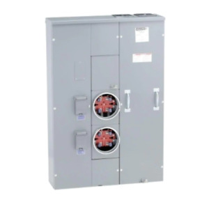 Meter-Pak 200 Amp 2 Gang Ring-Type Meter Socket