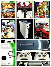 XBOX 360 Bundle Console AC Adapter 60GB Hard Drive Transfer Cable and 5 Games