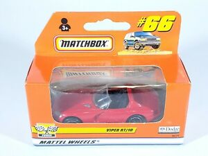 1999 MATCHBOX SUPERFAST #66 RED DODGE VIPER RT/10 NEW NIB